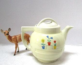 Vintage Coffee Pot / Tea Pot, Kitchen Farmhouse Style, Drip-O-lator, Decorative Potteries, Cottage Chic, Art Deco, Large Size, Enterprise