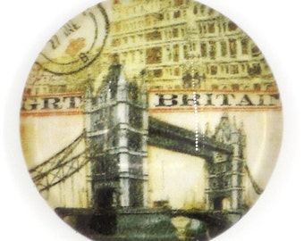 free uk postage Glass cabochon 16 mm London Tower Bridge 4 pcs