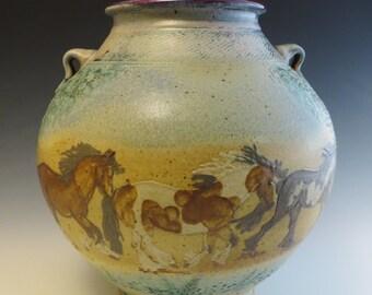 Large Vase Gypsy Vanner