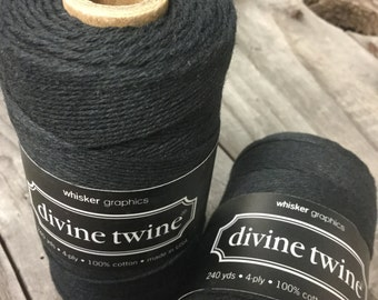 Full Spool - 240 Yards - Black - Baker's Twine