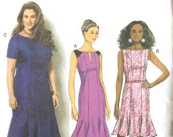 Butterick 6032 Sewing Pattern, 18w-20w-22w-24w, Ladies Dresses