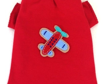 Touch The Sky Airplane Male Dog Shirt Clothes Size XXXS through Medium by Doogie Couture