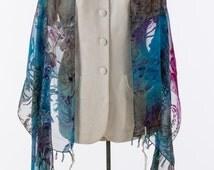 Multi Purple, Blue and Fuschia Silk Tallit