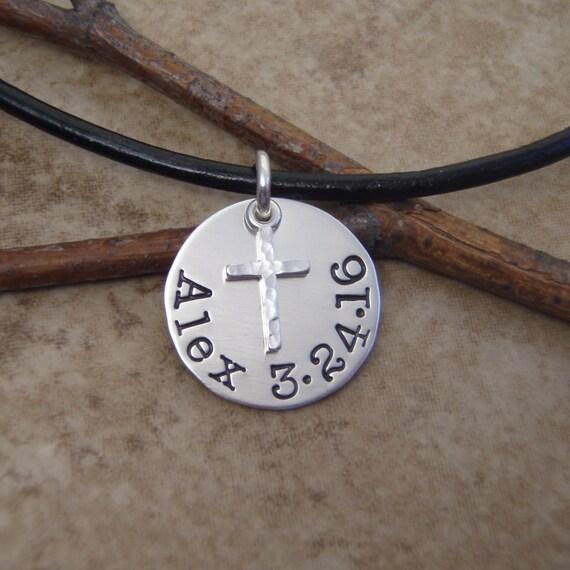 boy s cross necklace boy s communion necklace