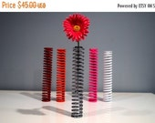 30% OFF SALE Bamboo / Flowers Aviation Art Custom Metal Spring Vase off Real Flying Airplane - perfect wedding gift