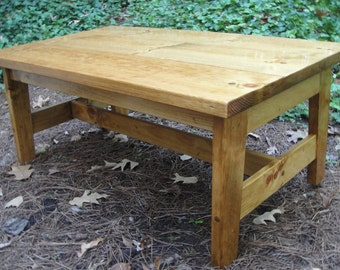 Coffee or End Tables Knotty Pine GT Style in Multiple Widths and Depths