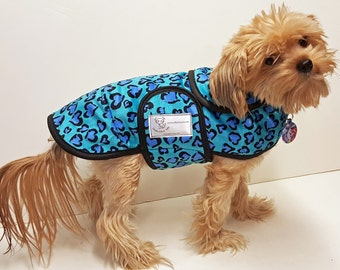 Blue Hearts Minky Dog Coat  20 dollars to 50 dollars depending on the size by Doodlebug Duds