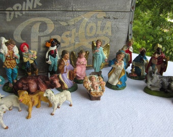 Vintage Nativity Creche 20 Pieces Made in Italy