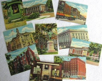 Vintage Elmira New York Souvenir Mini Postcards