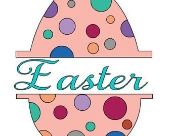 Split Polka Dot Easter Egg