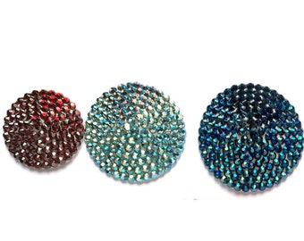 Chesties Custom Boylesque Mens Pasties Choose from 28 Color Crystal Male Made to Order