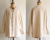 vintage 80s linen jacket made in usa