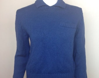VTG 90s LL Bean Wool Chunky Thick Sweater Knit Knitted