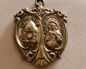 Notre Dame Jesus St. Christopher CREED Religious Medal