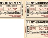 Private Listing for idojaninepiazza Will you be my Groomsman - Wedding Groomsman Liquor Labels - Will you be my Best Man - Groomsmen