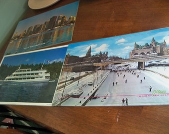 3 canadian vintage laminated place-mats or frame for   wall hangings