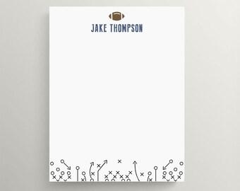football note card set //  kids stationery // personal stationery // note // personalized // football party  // sports
