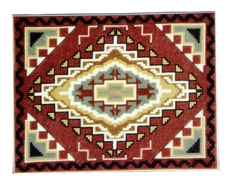 Chinle Navajo Rug Counted Cross Stitch Pattern or Kit