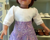 18 Inch Doll Clothes / Doll Skirt / Colonial Skirt / Prairie Skirt / Doll Clothing / Doll Accessories / Fits American Girl Doll - 2034