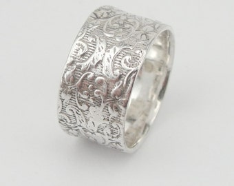 Filigree silver ring, 925 Silver band, israel Jewelry, Handmade 925 Silver Ring, Ring Size 6.5,  Free shipping, Ready to ship
