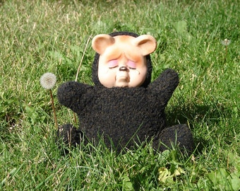 Vintage 1950s Rubber Face Crying Plush Teddy Bear