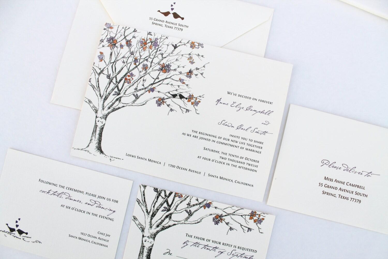 Love Birds Wedding Invitations: Love Birds Wedding Invitations Rustic Wedding Invitations