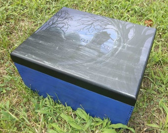 Halloween Hand Painted Box, OOAK Halloween Decor, All Hallows Eve, Wiccan
