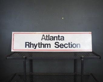 Large Vintage Sign / Atlanta Rhythm Section Tin Metal Sign