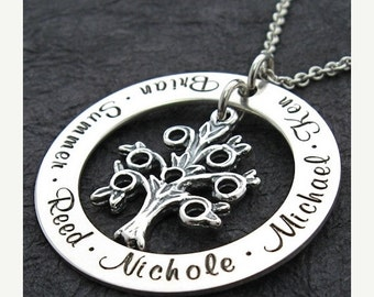 25% off sale - Personalized Necklace - Sterling Silver - Mother Necklace - Brisa Family Tree mother necklace by Wickedly Mod