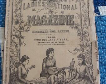Antique Magazine ... December 1883.... Peterson's Ladies National Magazine