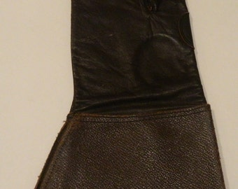 LEFT Hand only Brown Leather WWll Flying Glove