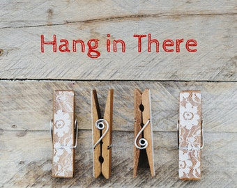 Hang in There, Photo Greeting Card, 4x5 inspirational cards, blank inside, life event encouragement support, funny, sorry, thinking of you