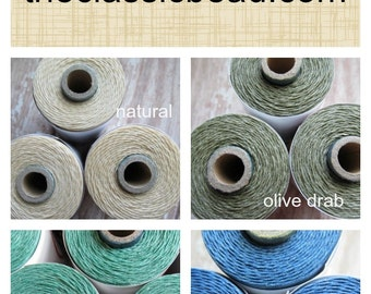 Full Spool Choose Color Two Ply Waxed Irish Linen