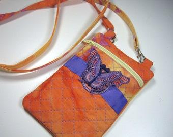 Crossbody Bag - Purple Butterfly