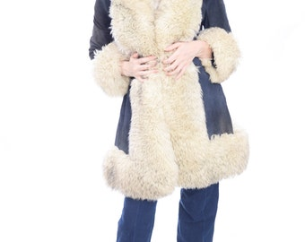 Suede 70s Shearling Coat