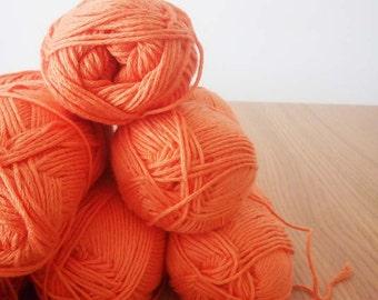 SALE - 14 Organic Yarn Balls - Orange