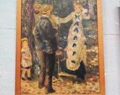 Vintage French Art Print. Framed Art. Framed French Art. Auguste Renoir Print.  La Balançoire. The Swing. Wooden Frame.