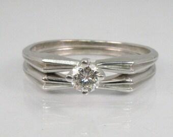 Vintage Diamond Wedding Rings Set