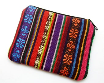 RS Colourful strips - Zipper pouch / coin purse (padded) (ZS-163)
