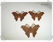 Rusty Metal Butterflies/ Large/Set of 3/Craft Supplies*