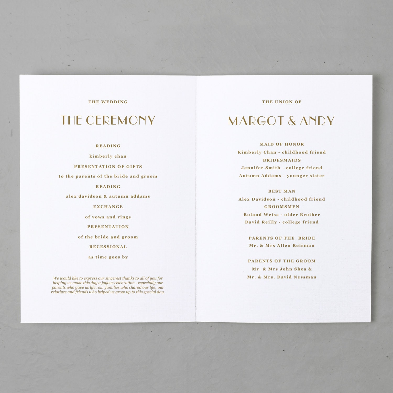 wedding program template printable wedding program folded order