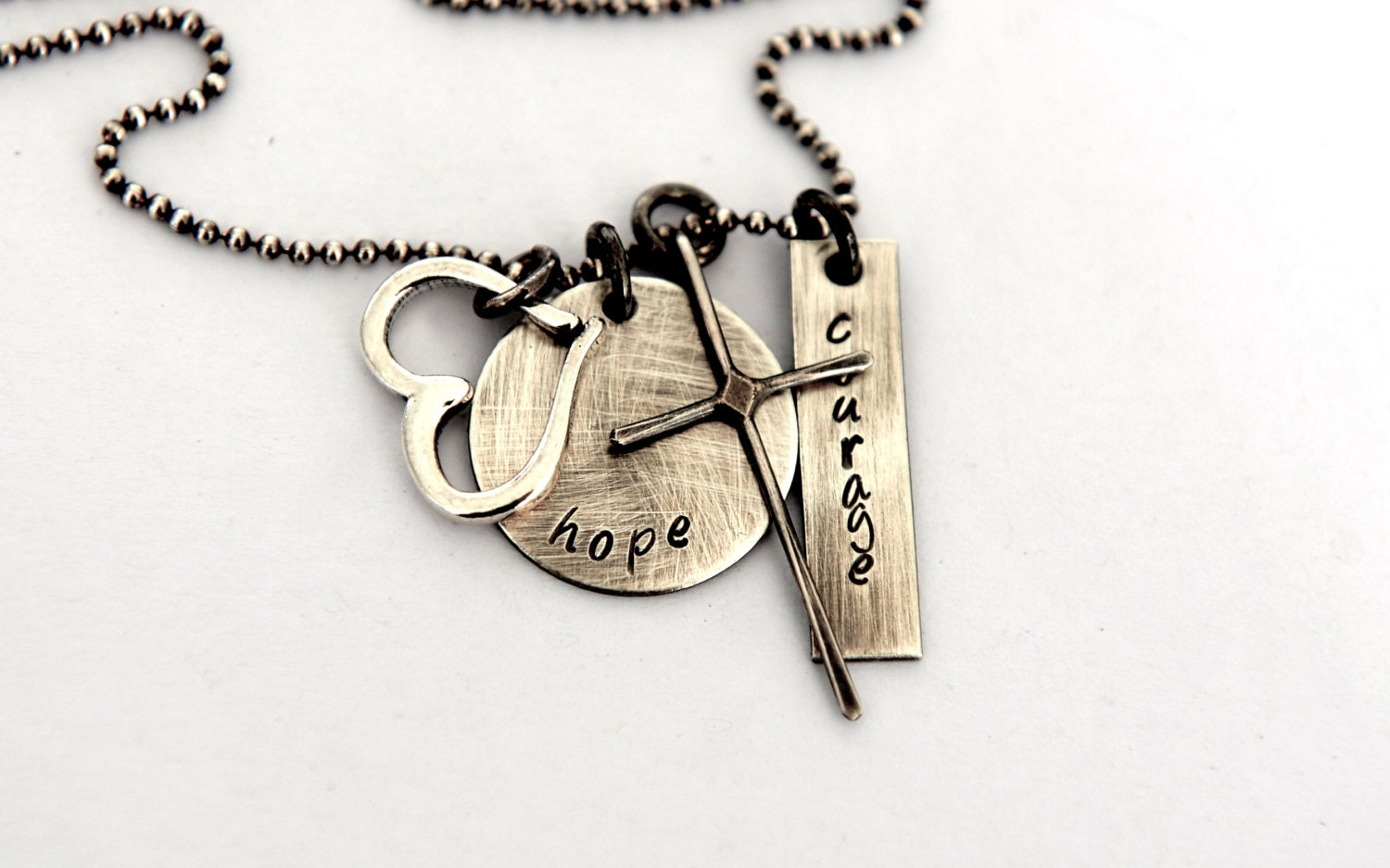 Faith love hope courage necklace inspiration jewelry gift for Faith hope love jewelry