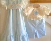 lst Installment - Private Custom Listing for Laurie Brother and Sister Coordinating Dress and Shirt Pants Set