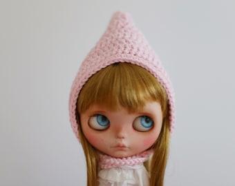 Handmade pixie hat. Crochet hat for blythe doll.