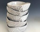 Ceramic Cereal Bowls soup bowls - white dinnerware ceramic bowls - tableware organic shaped icecream Bowls