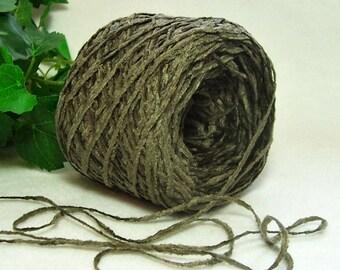SALE, Army Green Yarn, Dark Moss Green, Acrylic Chenille, Knitting & Crochet Yarn, Bin 8
