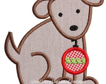 901 Christmas Puppy Machine Embroidery Applique Design