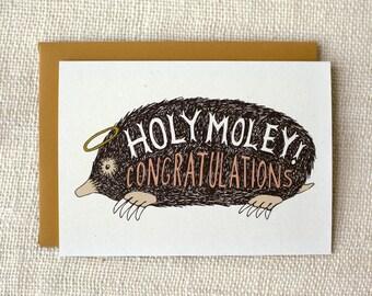 Congratulations Card - Holy Moley
