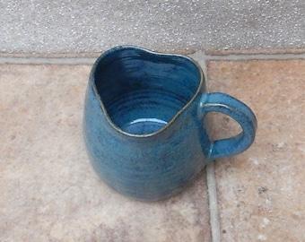 Coffee mug tea cup heart shaped rim wheelthrown stoneware