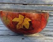 Gourd Bowl with Autumn Leaves